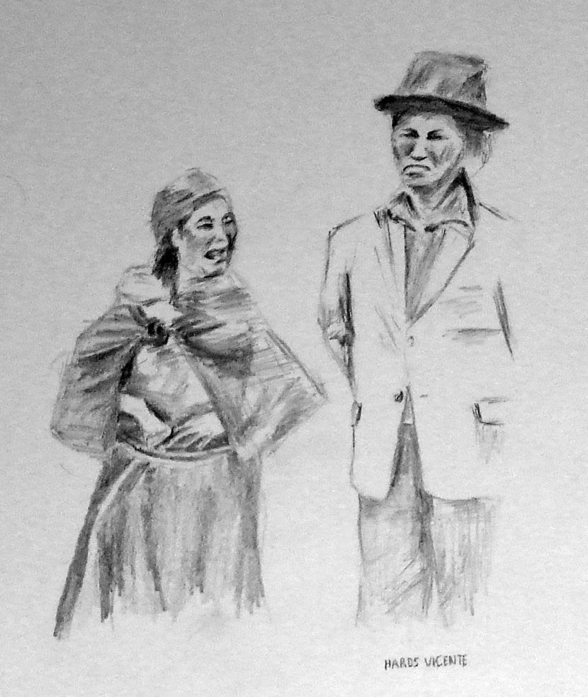 Sketches for 2014, number 3 -- Wife and husband