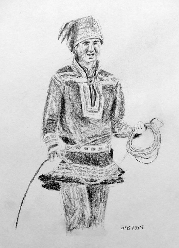 Sketches for 2014, number 5 -- Sámi man