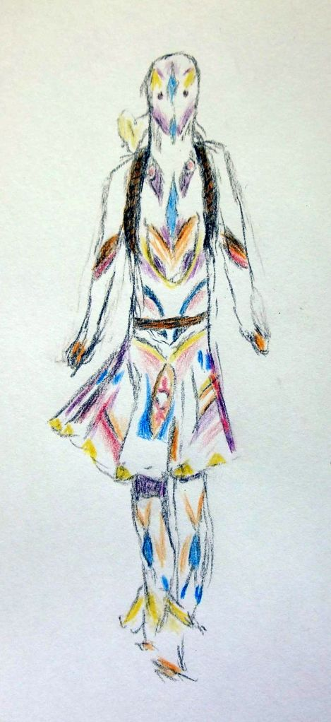 Sketches for 2014, number 7 -- Bunka Gakuen University fashion